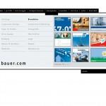 bauercom.eu - Beispielseite mit Überblick Projekte