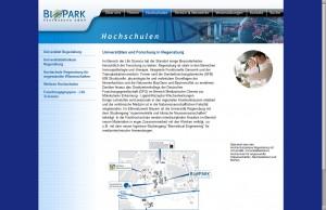 Biopark Regensburg GmbH - Bereich Hochschulen