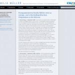 Emilia Müller - Bayerische Staatsministerin für Bundes- und Europaangelegenheiten - Seite Pressemitteilungen