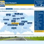 Eurorastpark Seite mit Flashkarte