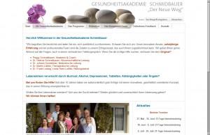 Gesundheitsakdemie Schmidbauer - Startseite