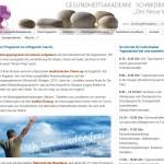 Gesundheitsakademie Schmidbauer - Website