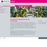 SES GROUP - Seite Automatisierungstechnik